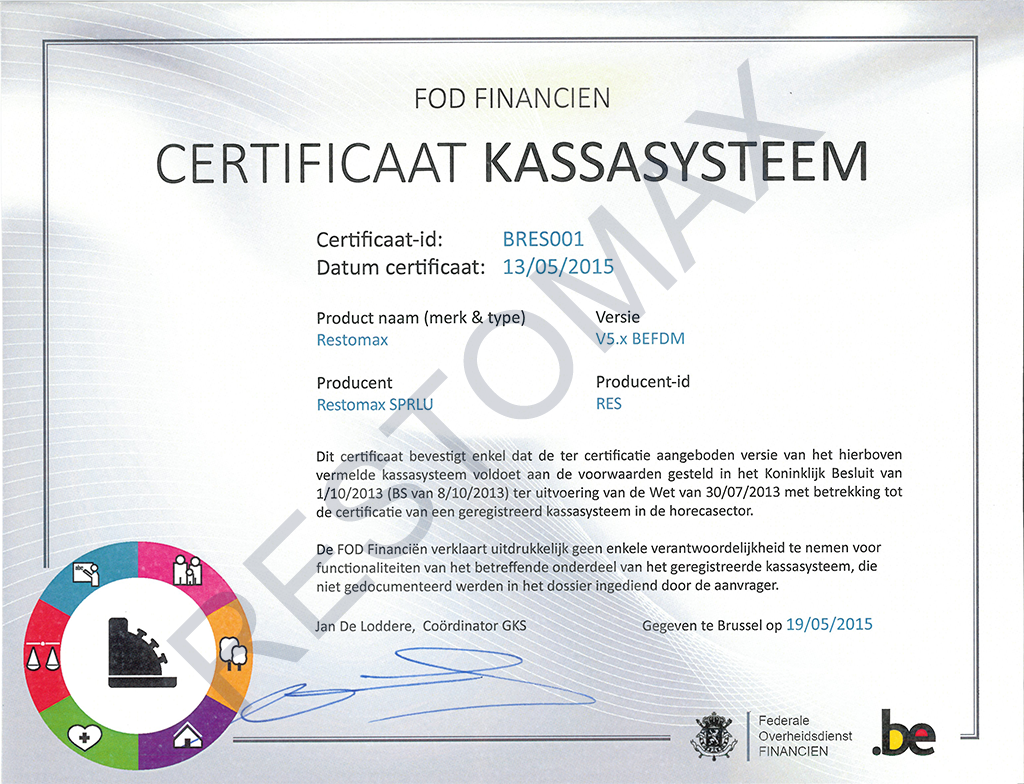 Certification RESTOMAX